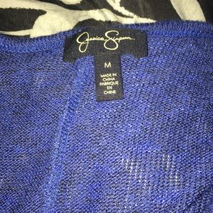 Jessica Simpson Sweaters - Blue sweater with black lace